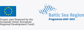 Project part-financed by the European Union, Baltic Sea Region Programme 2007-2013